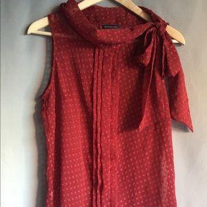 Banana Republic sleeveless sheer blouse